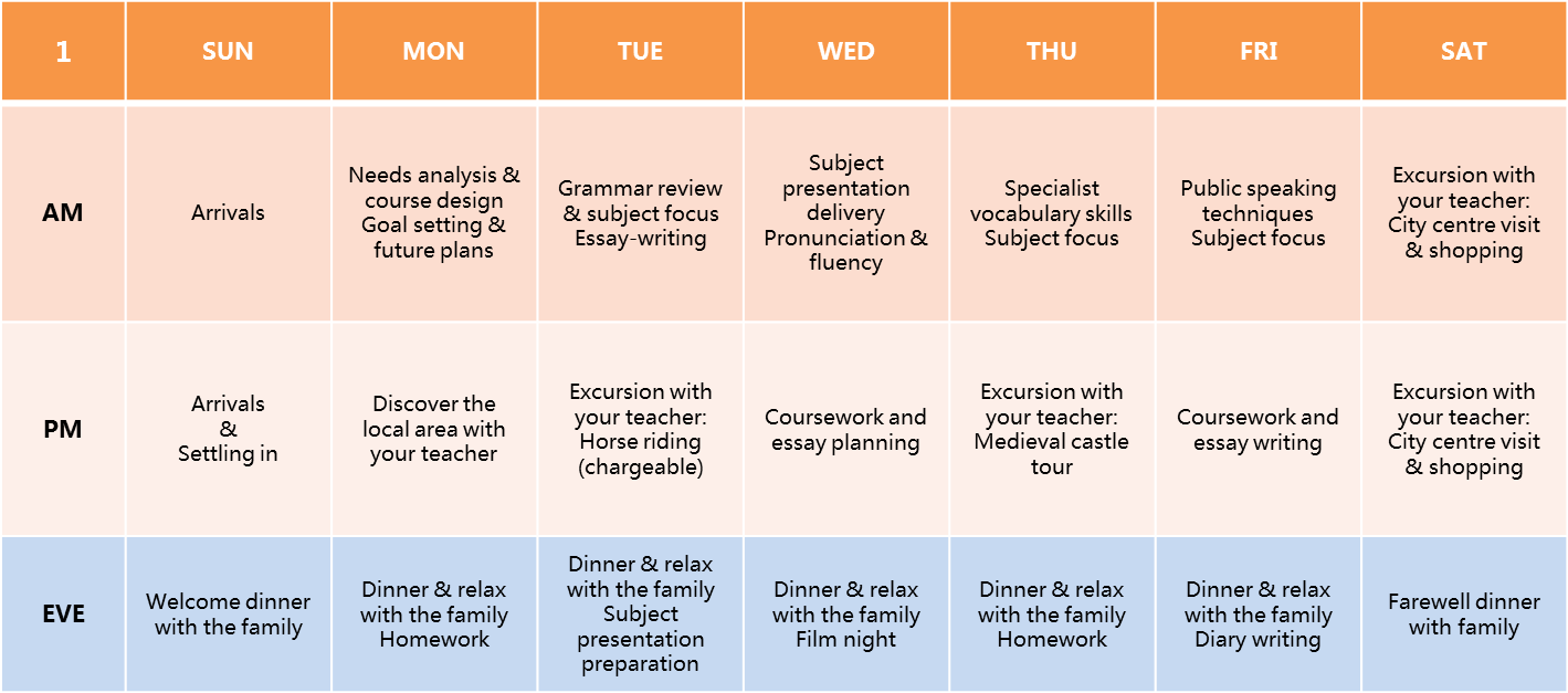 Home Tuition School Subjects Timetable 2016